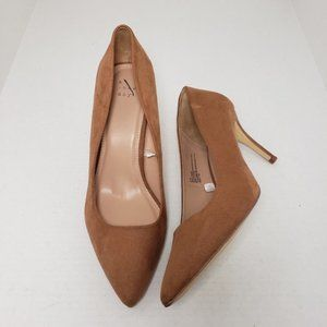 A New Day Tan Closed Toe Suede Career Heels Sz 11W